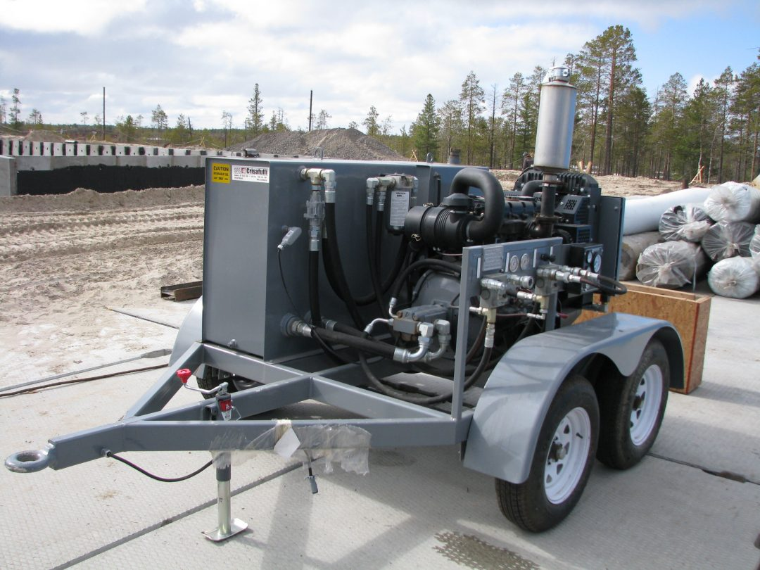 Mobile Sludge Pumping Unit / Diesel / Hydraulic (General view)
