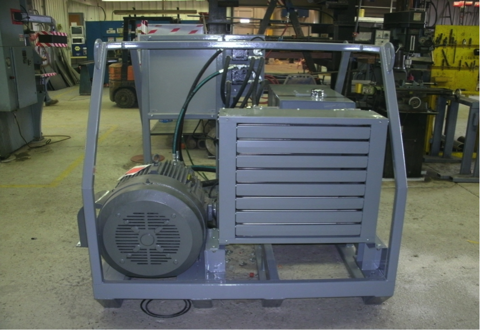 Mobile Sludge Pumping Unit / Electric / Hydraulic (Back view)